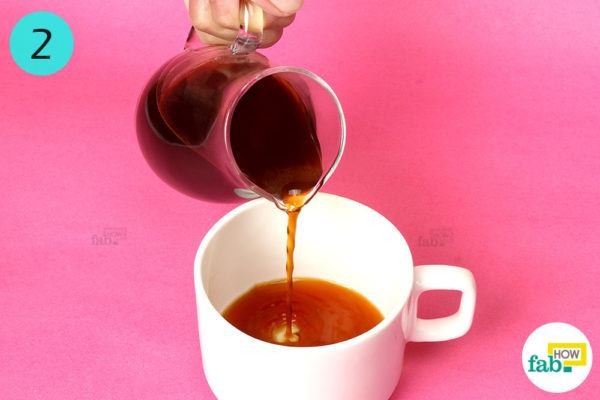 Pour brewed coffee