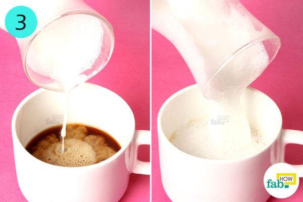 Add foamy milk