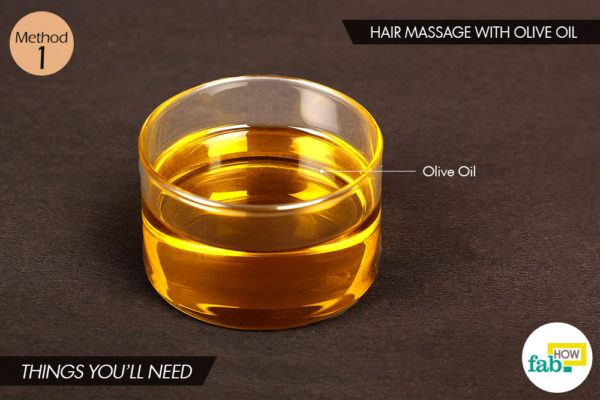 Olive oil massage things need