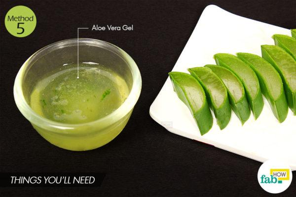 Aloe vera juice massage things need