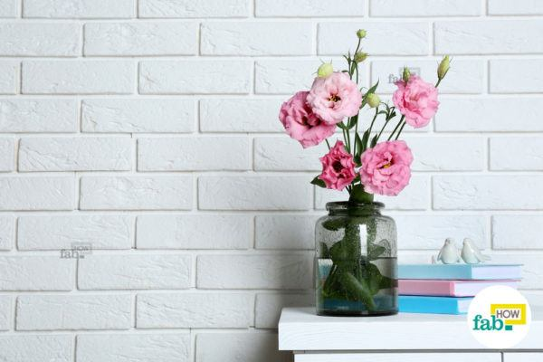 Use bright flowers indoors