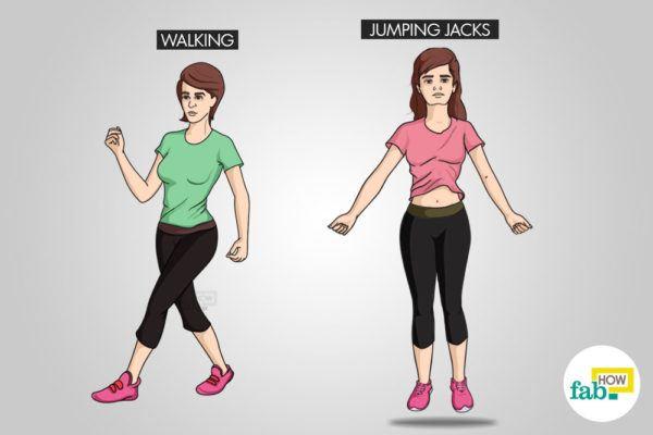 take a walk or jump to stay awake