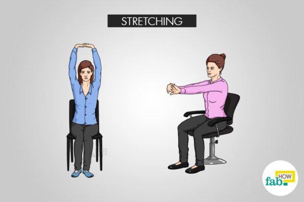 stretching to stay awake