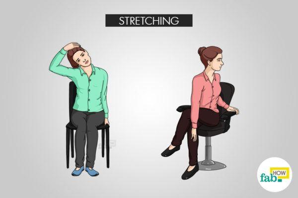 stretch your neck to stay awake
