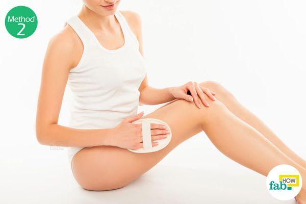 Using a Dry Brush Massage