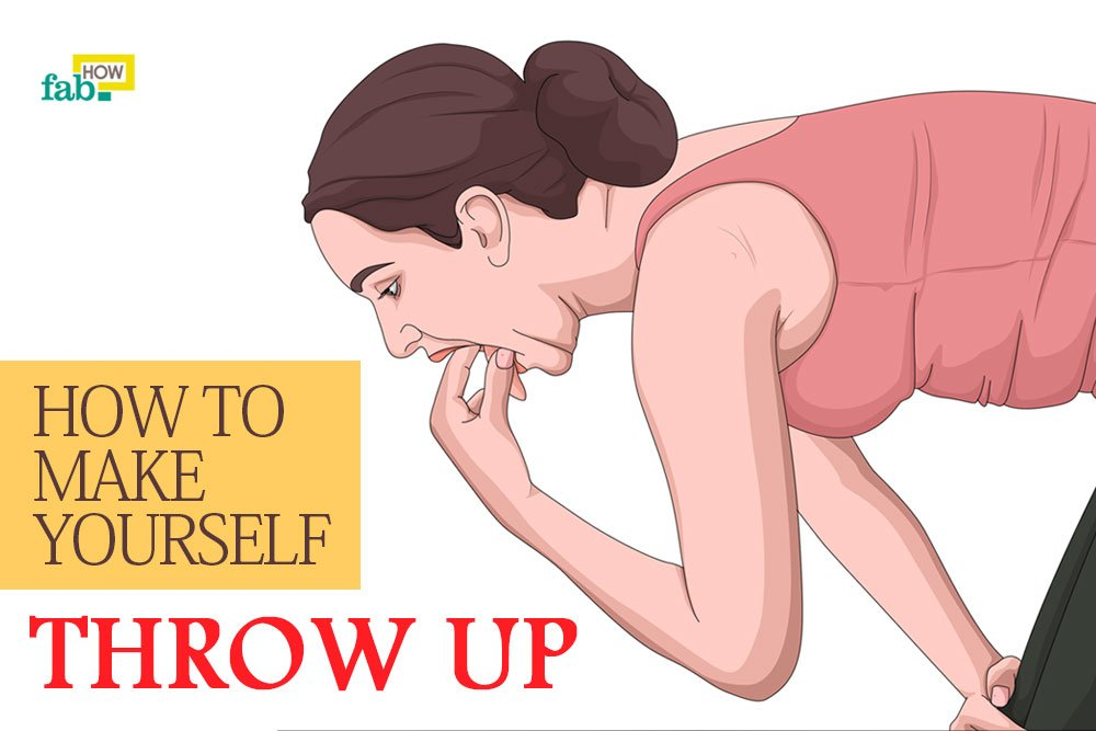 Make yourself throw up easily quickly