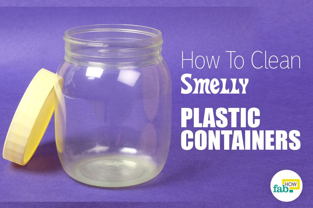 Clean smelly plastic containers using just 1 ingredient