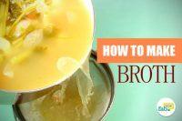 Make vegetable chicken broth