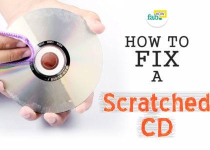 Fix scratched cd 5 minutes