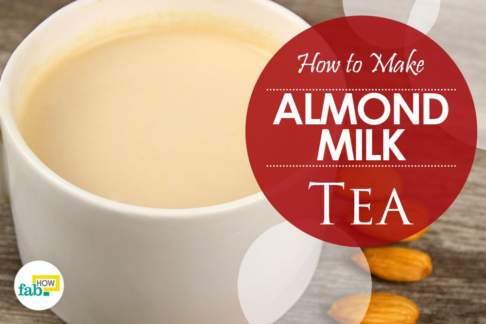 Make best almond milk tea