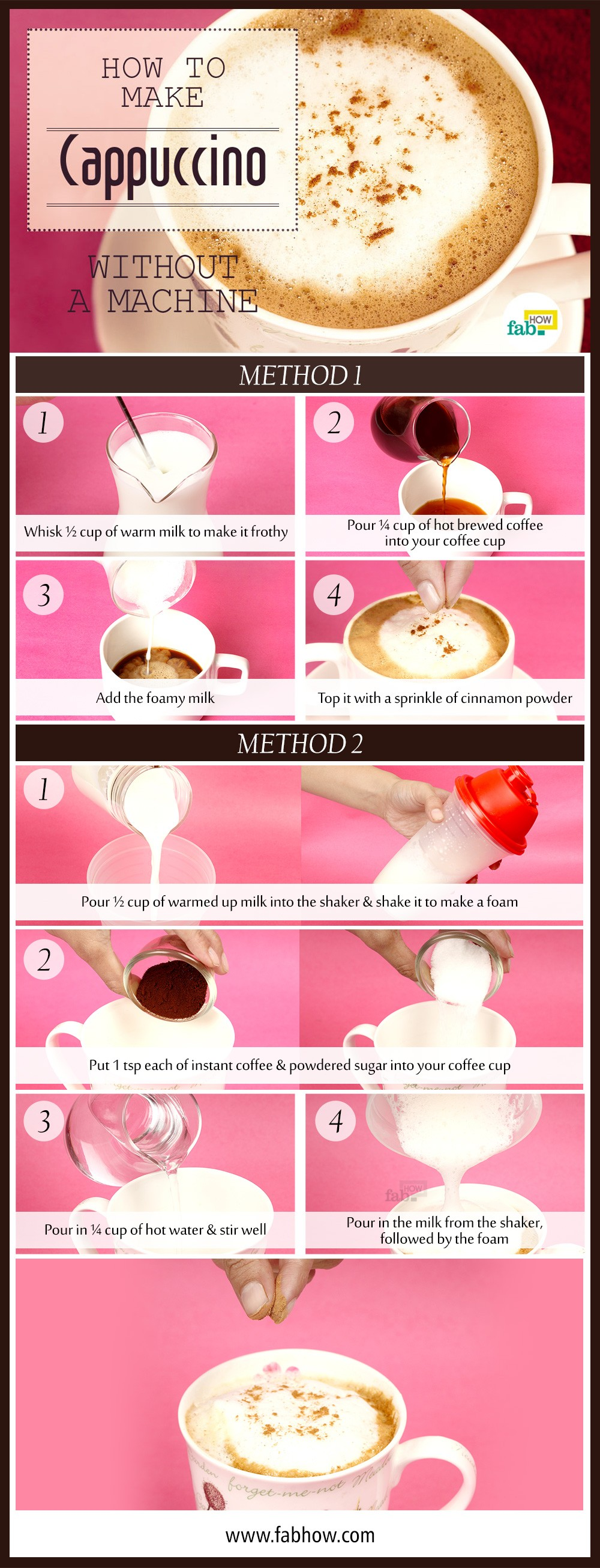 how to use cappuccino machine