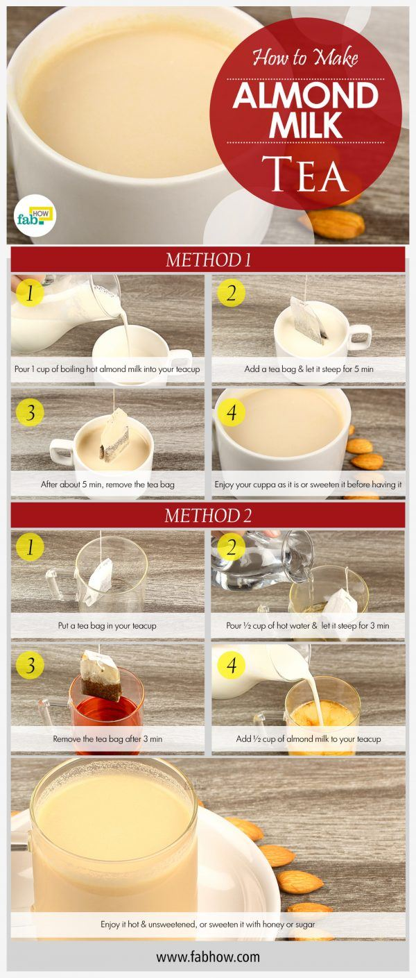 how to make almond milk tea