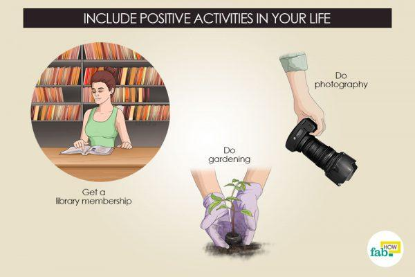 include positive activties to avoid suicidal thoughts