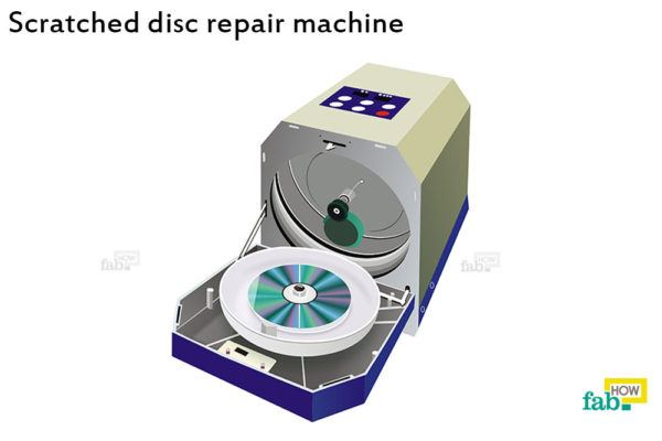 Scratched disc repair machine