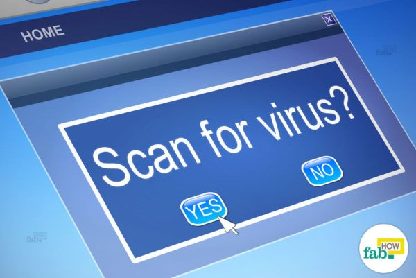 Regular virus scan