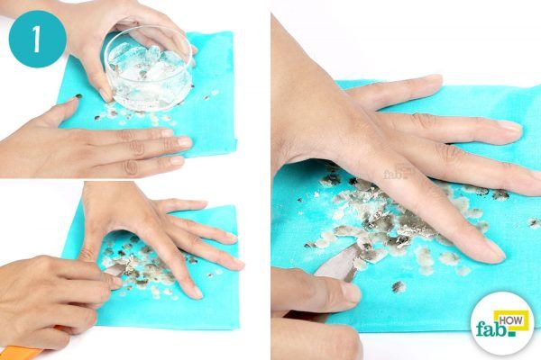 freeze the wax to remove wax stains