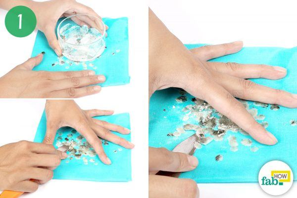 freeze the wax to remove wax stain off fabric