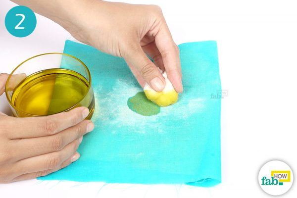 vegetable oil for wax stains on fabric