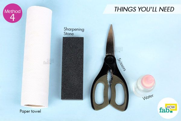 Sharpen scissor sharpening stone things need