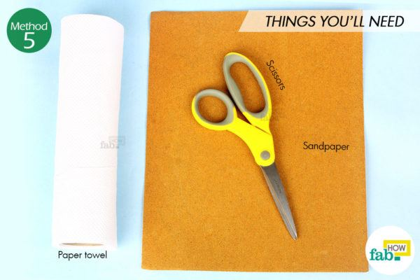 Sharpen scissor sandpaper things need