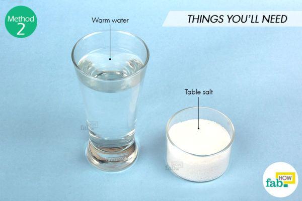 Drinking salt water things need