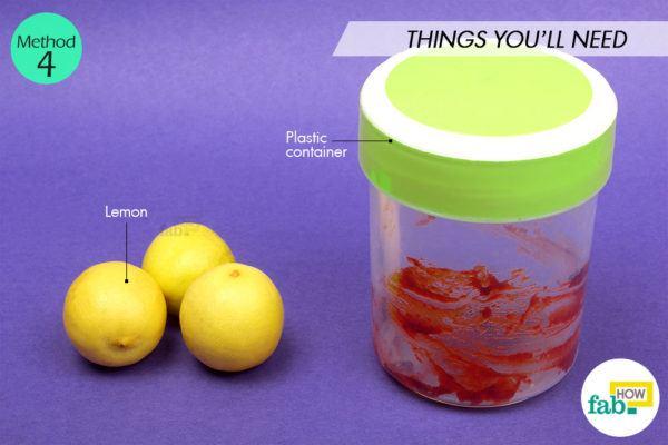 Using lemon things need