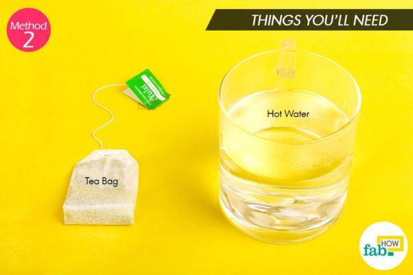 Tea compress things need