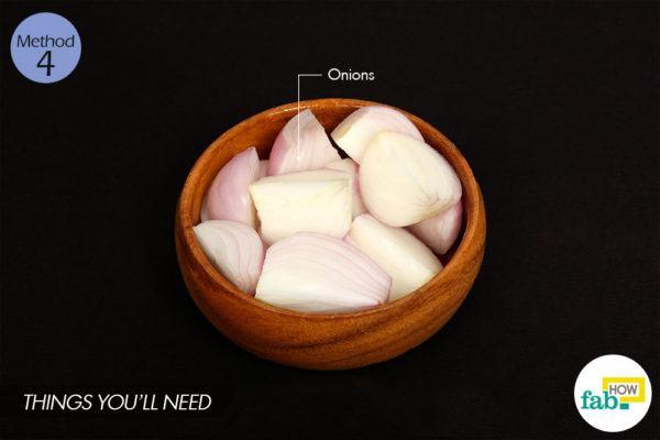 Onion juice massage things need