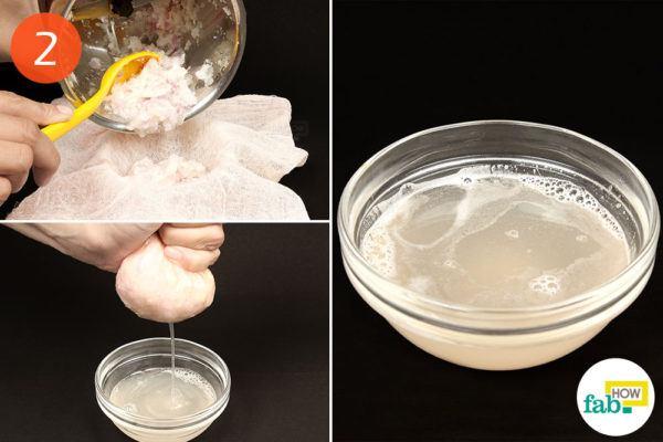 extract the onion juice