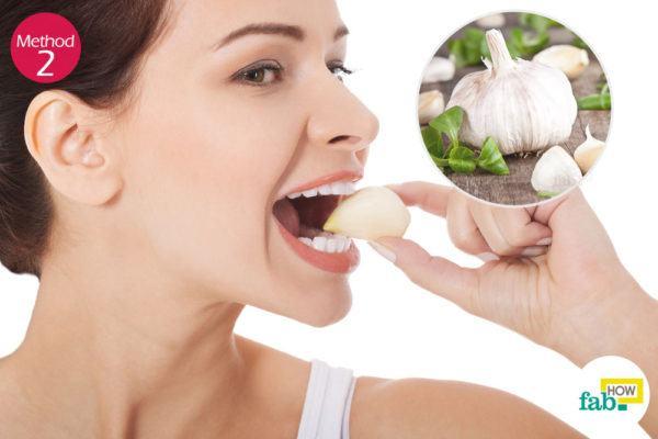 using garlic