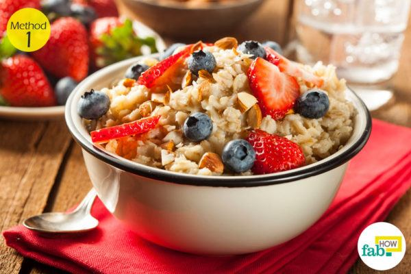 using oatmeal
