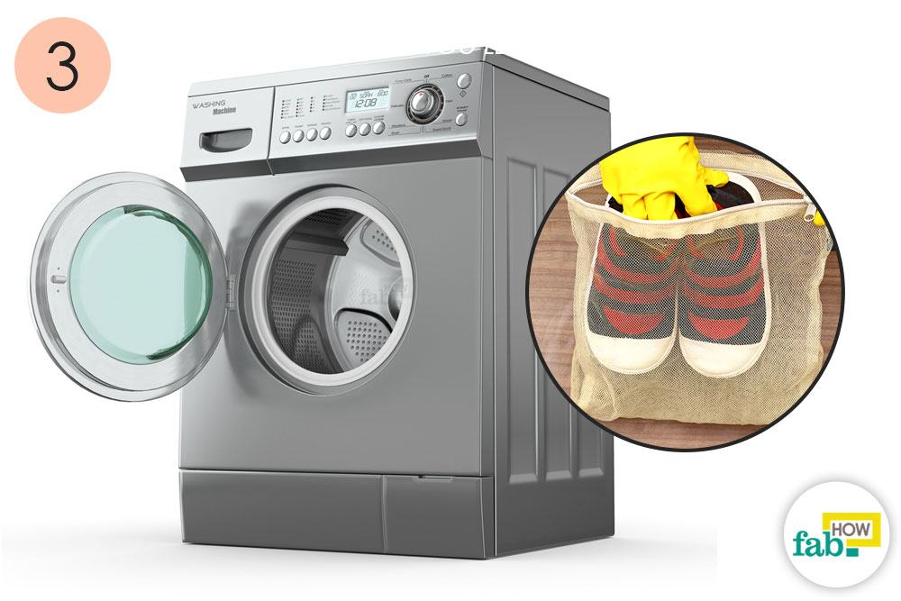 Place The Shoes In A Washable Bag Set Your Washing Machine