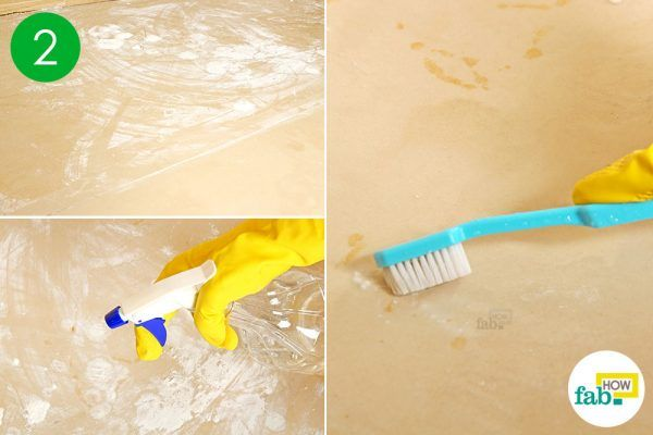 clean the tiles with diluted rubbing alcohol