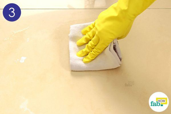 wipe away the mess with a cloth