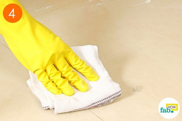 wipe clean with a cotton cloth