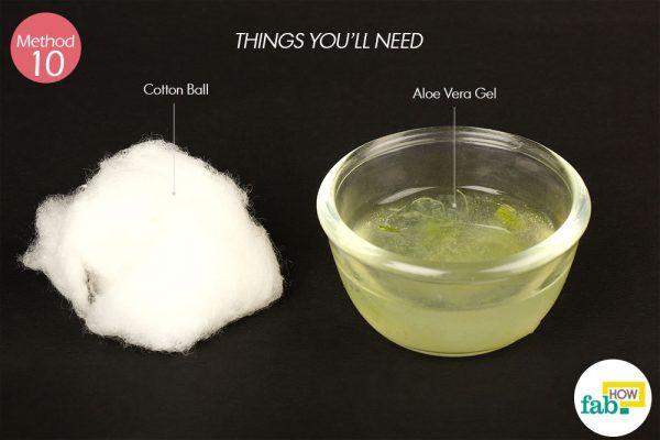 using aloe vera gel