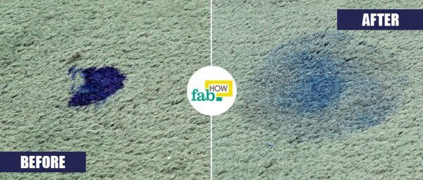 rubbing alcohol to remove ink stain from carpet