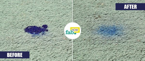 use hair spray to remove ink stain from carpet