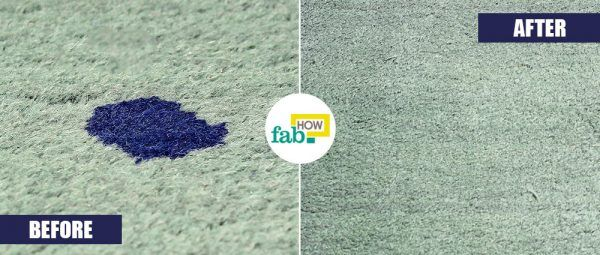 get rid of ink stains from carpet