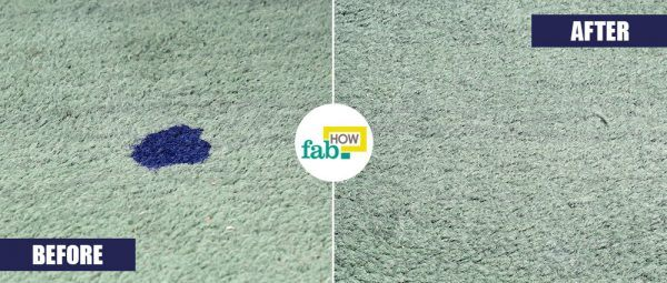 laundry detergent to remove ink stains from carpet
