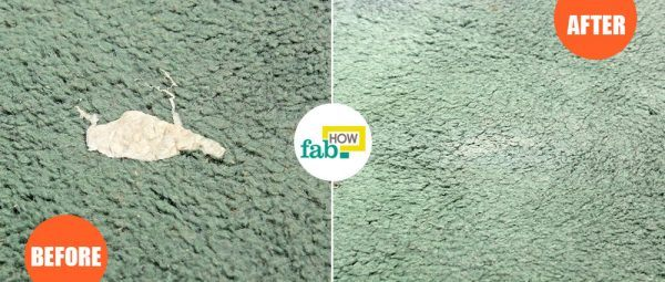 remove chewing gum from carpet