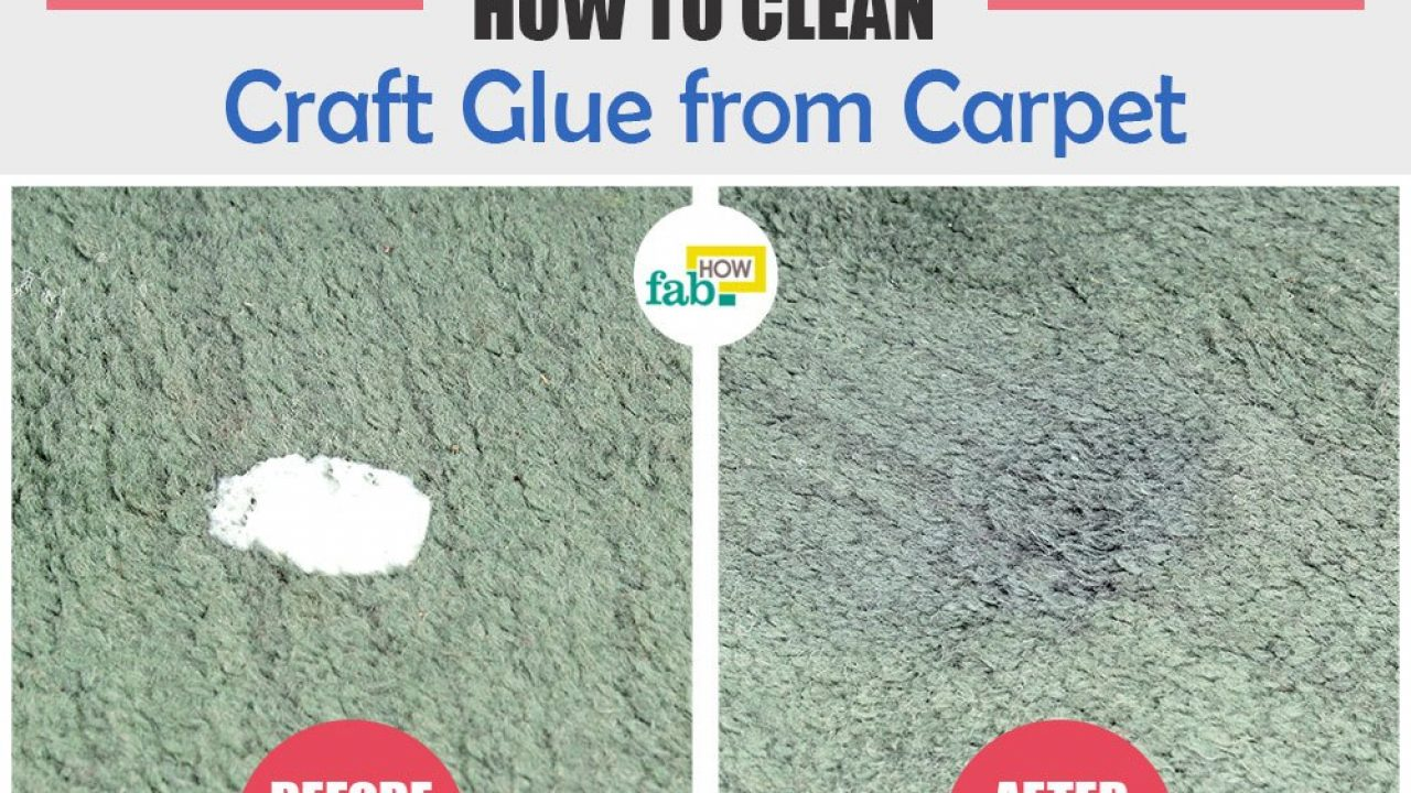 Remove Craft Glue from Carpet