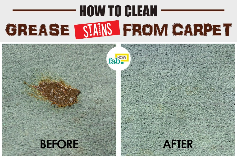 get grease out of carpet