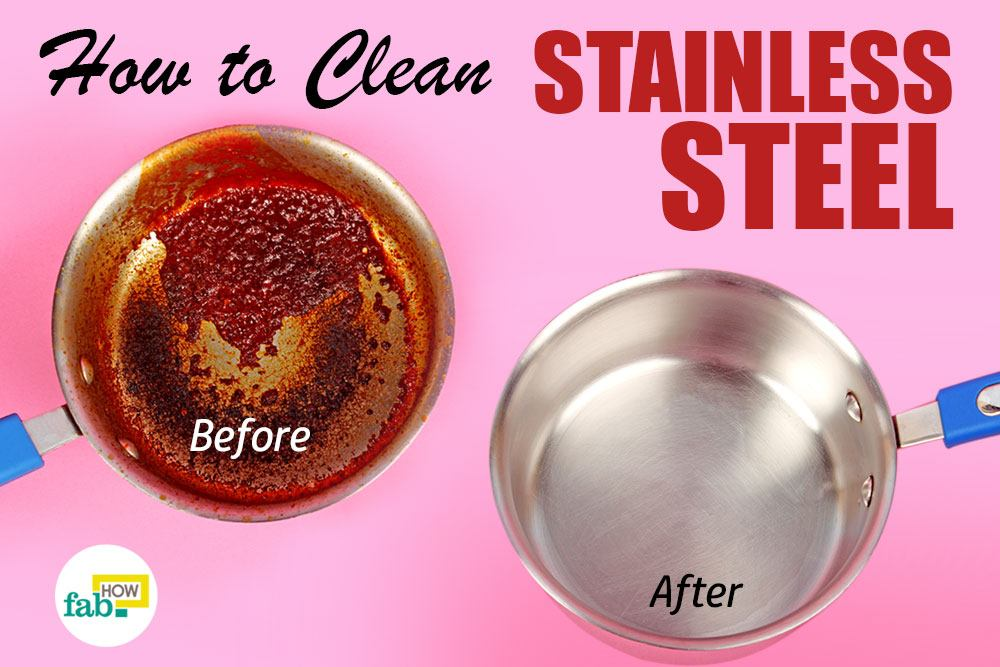 how to clean stainless steel cookware with vinegar and baking soda. Black Bedroom Furniture Sets. Home Design Ideas