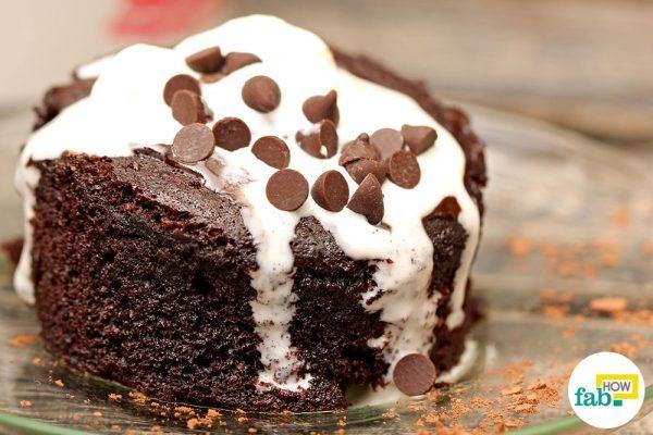 make chocolate mug cake in 5 min