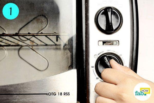 preheat oven for making washing soda from baking soda