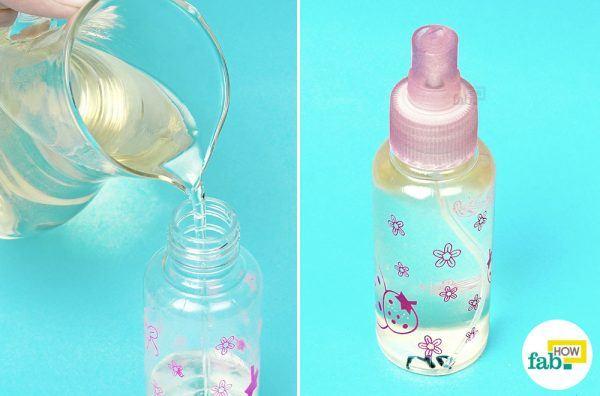 pour into a spray bottle