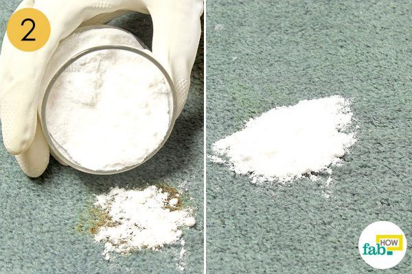 baking soda to get grease out of carpet