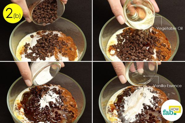 assemble the ingredients for chocolate mug cake