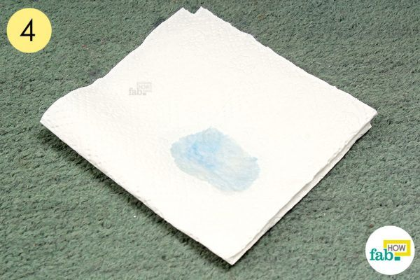 blot the loosened stain with paper towel